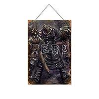ゼルダの伝説泥棒ゲーム木製のリストプラーク木の看板ぶら下げ木製絵画パーソナライズされた広告ヴィンテージウォールサイン装飾ポスターアートサイン