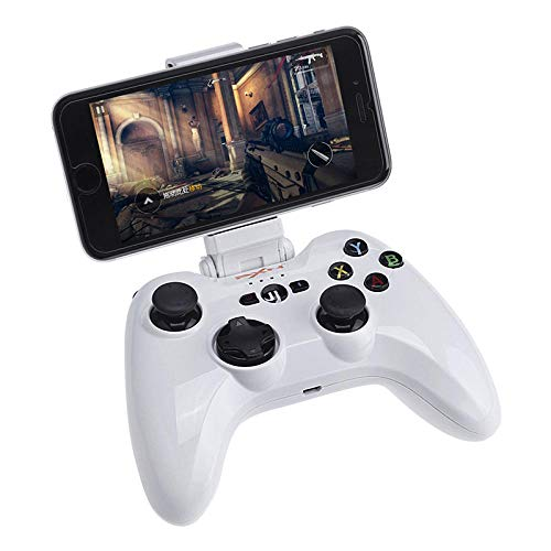 Contrôleur Bluetooth IOS Contrôleur de jeu mobile sans fil IOS Contrôleur de jeu certifié MFI-Blanc