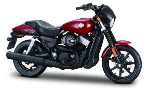 Maisto 20-17084 Harley Davidson Street 750 - Maqueta de Harley Davidson (escala 1:18), color rojo oscuro