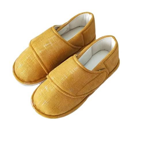 JJZXLQ Zapato ortopédico Ajustable Calzado premamá Zapatos de Mujer para diabéticos Pantuflas ortopédicas para los pies hinchados de los Ancianos Artritis Edema inflamado,Naranja,40