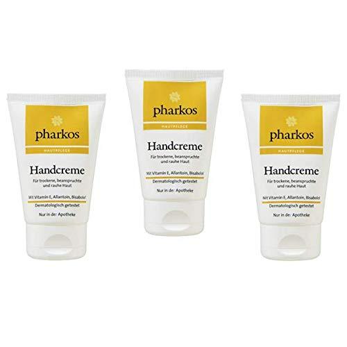Pharkos Handcreme für trockene beanspruchte Haut 3 x 50 ml