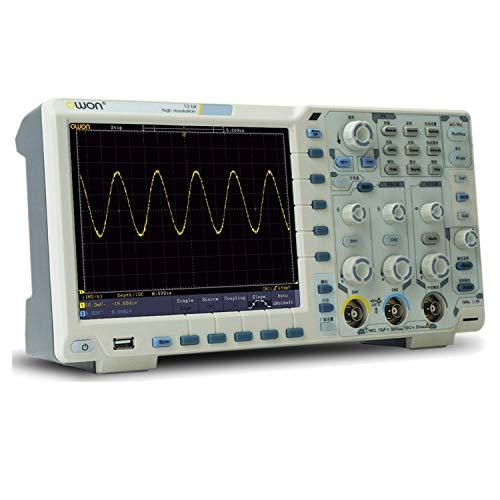 Osciloscopio digital XDS3062A, osciloscopio digital de 60 MHz de ancho de banda de 1 GS / s de frecuencia de muestreo de 12 bits portátil osciloscopio 75000 WFMS / s Kit de osciloscopio profesional