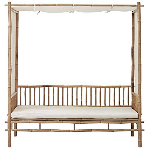 Mandisa - Sofá de bambú/lona 80x180 cm