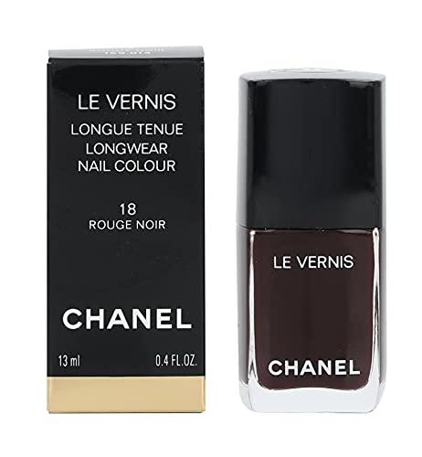 Chanel Le Vernis Longwear Nail Colour 18 Rouge Noir for Women, 0.4 Ounce