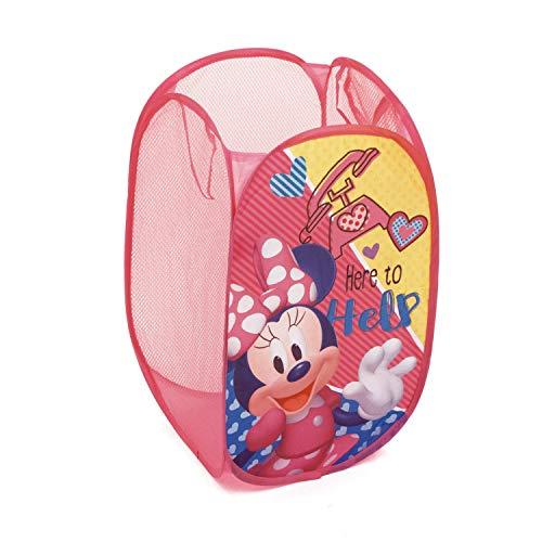 ARDITEX - Cesto de Almacenamiento, poliéster, 36 x 36 x 58 cm, diseño de Minnie Mouse, Color Rosa