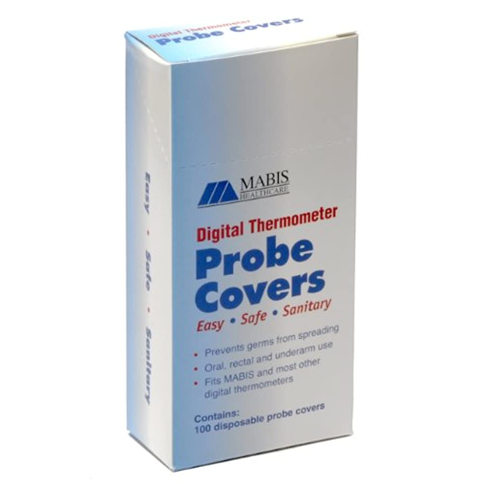 Mabis Digital Thermometer Oral Probe Covers, Box of 100, 2.7 Pound