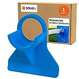 SOLIDfy - 1 soporte para manguera de piscina de 26 mm - 38 mm, de plástico en color azul para Intex y Bestway.