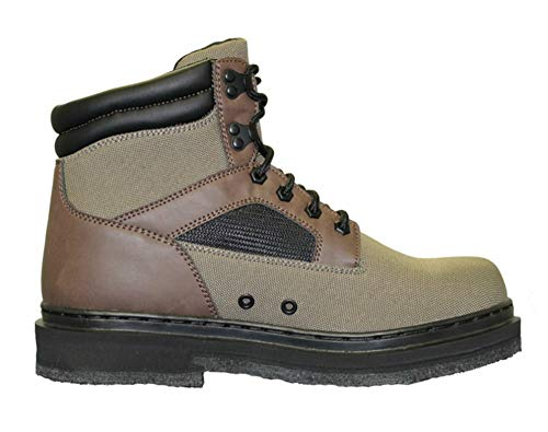 Chota Outdoor Gear Unisex's East Prong Cleatable Felt Sole Wading Boots, Green/Brown, Size 14