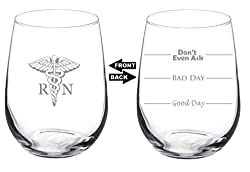 MIP Nurse Wine Glass