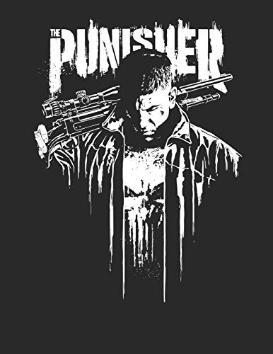 Punisher, Blank Comic Book 110 pages, large 8.5 x 11 inch Blank:...
