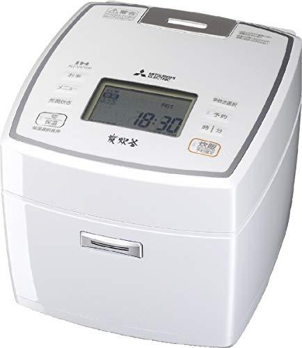 三菱 IHジャー炊飯器(5.5合炊き) ピュアホワイトMITSUBISHI 備長炭 炭炊釜 NJ-VV109-W