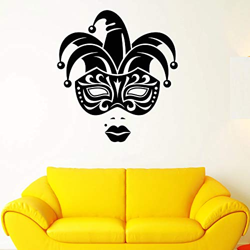 Tianpengyuanshuai fotobehang clown masker meisjes lippen vinyl venster sticker vrouw slaapkamer club party decoratie
