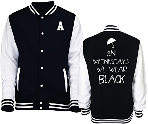 New Indastria Giacca/Felpa Unisex Varsity Tipo College American Horror Story Coven S-Nera