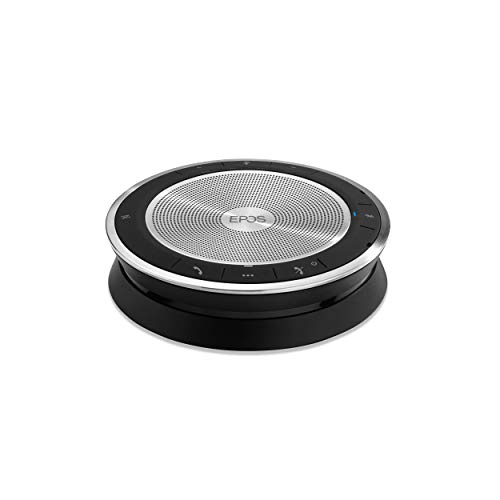 EPOS Expand SP 30 (1000223) Portable Bluetooth Speakerphone | Instant Conferencing Anywhere | Sound-Enhanced | PC, Mobile Phone & Softphone Connection | UC Optimized, Black