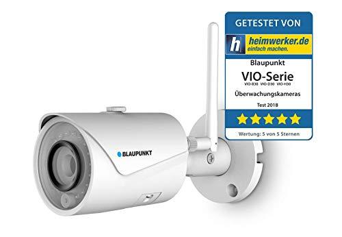 Blaupunkt VIO-B10 Cámara de Seguridad Exterior, IP WiFi Cámara inalámbrica Exterior, 960P HD Cámara Impermeable, visión Nocturna, detección de Movimiento. Nube privada y compatibilidad ONVIF.