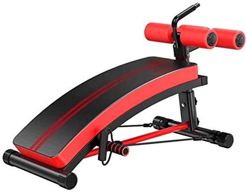 Wghz Banco de Pesas Banco de Mancuernas Plegable Ajustable Multifunción Ejercicio Muscular Abdominal Equipo de Fitness Ayuda de Entrenamiento Plegable