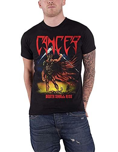 Cancer T Shirt Death Shall Rise Band Logo Death Metal New Mens Black Men Black M