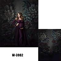 (1.5x2.2cm)濃い青の巨大な花の背景 水彩画の油絵花の背景 母の日バナー 赤ちゃんの写真ポートレート 写真撮影 撮影背景布 背景シート ポートレート シルク製 背景幕 道具 バックグラウンド W-3982
