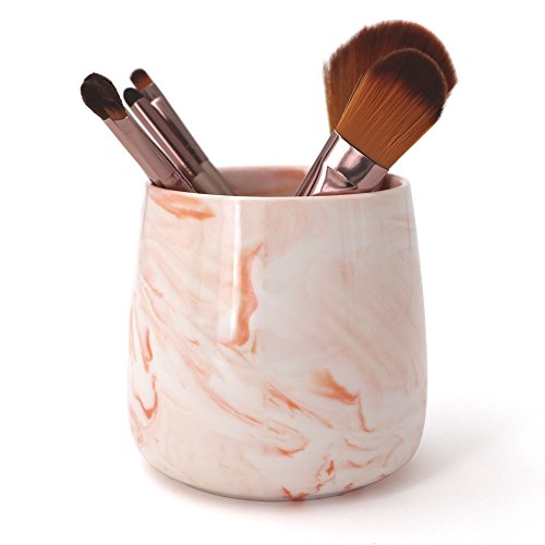 LUANT Ceramic Tumbler Cup for Toothbrush, Toothpaste, Pens, Makeup Brushes Holder Stand