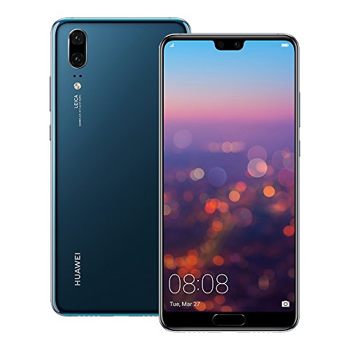 Huawei P20 EML-L29 128GB 4GB RAM, Dual SIM LTE, 5.8', Full HD+ Display -Dual Camera 20 MP +12 MP, GSM Unlocked International Model, No Warranty (Blue)
