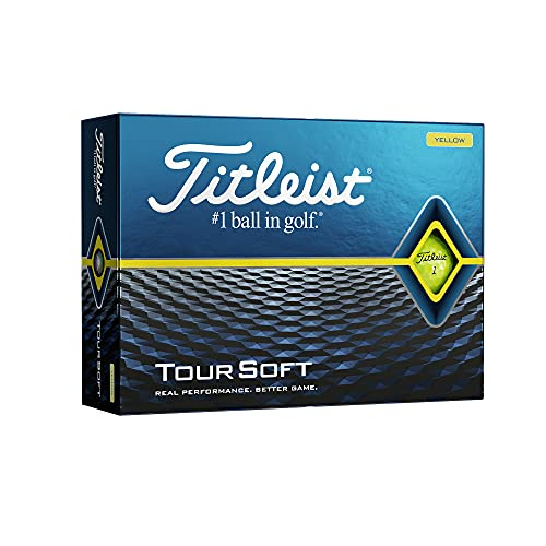 Titleist Tour Soft Golf Balls, Yellow, (One Dozen)