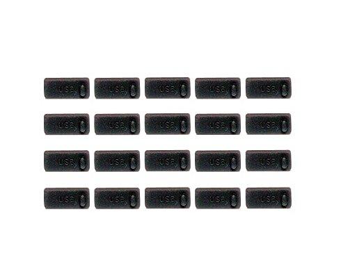 monofive USBポートコネクタ防塵保護カバー・キャップ 20個入り シリコンタイプ MF-USB-C20B