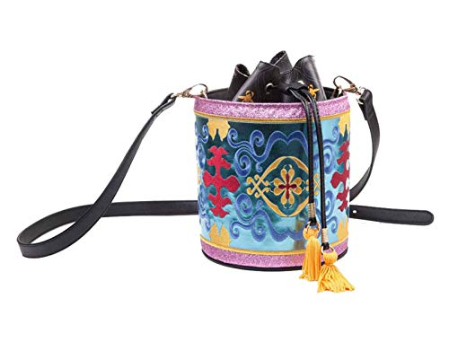 Bioworld Disney Aladdin Magic Carpet Glitter Drawstring Bucket Bag Sac à cordon 18 centimeters Rose (Multicolour)