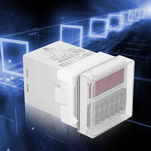 FOLOSAFENAR 0.1S-99H Interruptor de sincronización del Controlador automático CW/CCW LCD Controlador de relé de Tiempo Pantalla de visualización Digital para luz de Potencia(380VAC)