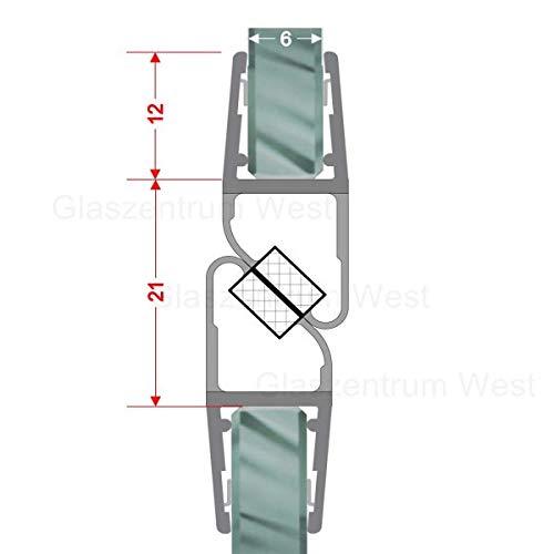 Magnetdichtungen für Dusche180° Magnetprofil Duschdichtung Glasdusche 1 Set für Glasstärke 4-6 mm