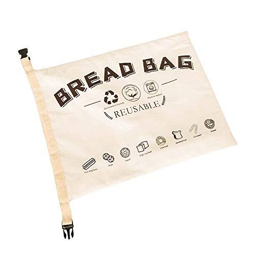 JDV Bolsa de Pan Reutilizable de Lino y algodón Bolsa de Almacenamiento de Alimentos Reutilizable sin blanquear Natural para Almacenamiento(1)