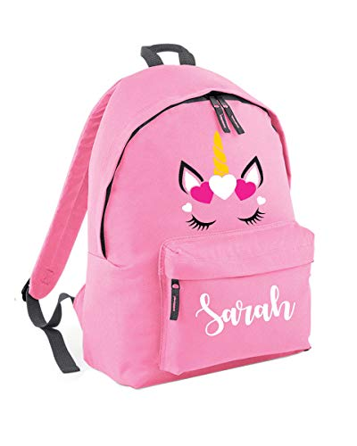 Personalised Unicorn Backpack School Bag - Unicorn Gifts for Girls - Custom Name School Bag Girl