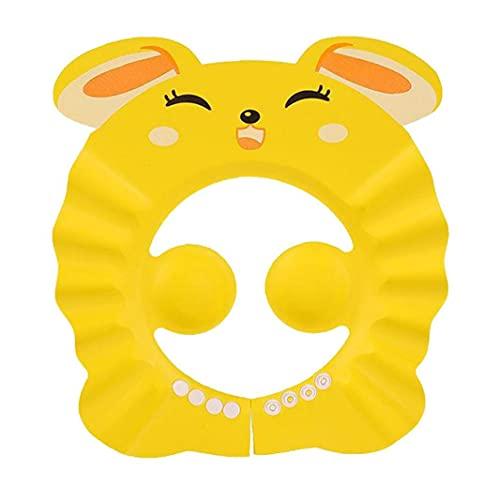 Guardia De Agua Sombreros para Niños Pequeños Baby Shower Cap Ajustable Infantil Champú Baño Protección Oreja Escudo Sombreros Amarillo