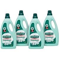 Sanytol Limpiahogar - Limpiador Desinfectante, Elimina Bacterias y Malos Olores, sin Lejía - Pack de 4 x 1200 ml