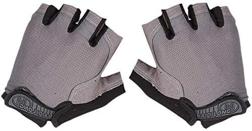 Yeaser Fingerlose Handschuhe für Herren Damen, Halbfingerhandschuh UV-Sonnenschutz für Radfahren, kurz, Reiten, Kajak, Angeln, Segeln, Rudern, Wandern, 1 Paar, grau, S