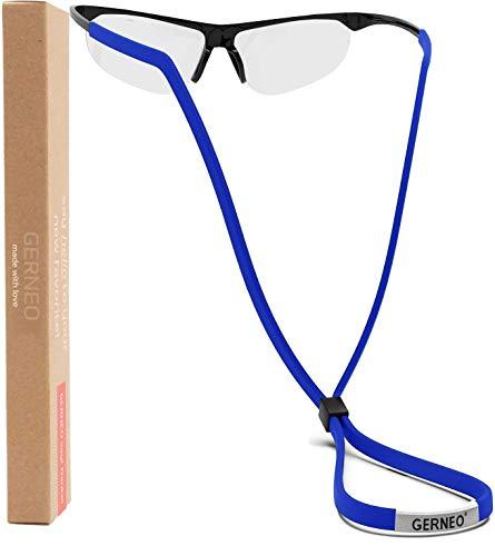 GERNEO® - Cadena de tela ajustable para gafas deportivas - para gafas de deportivas - Banda impermeable para gafas de hombre y de mujer - Ajuste seguro para todo tipo de deportes