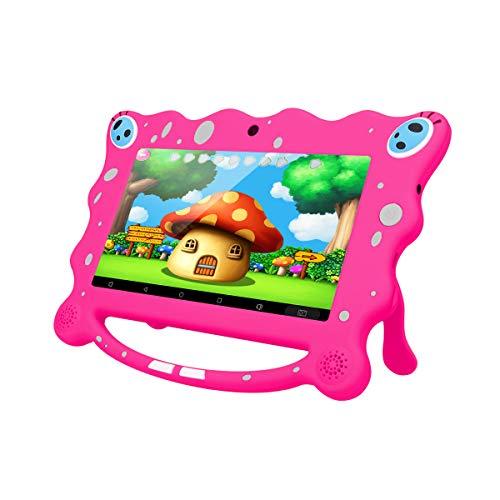 Ainol 7C08X Tablet per Bambini da 7 pollici, Android 8.1 A50 Cortex-A7 Quad Core 1GB+16GB Tablet Educativo, con Custodia in Silicone Stander, WIFI Doppia Fotocamera, Rosa