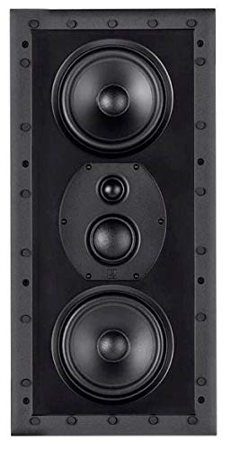 Monolith THX-365IW THX Ultra Certified 3-Way in-Wall Speaker, 1in Silk Dome Tweeter with Neodymium Magnet and Copper Shorting Ring, for Home Theater, Easy Install