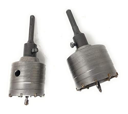 DWT-Germany 100024 6 in 1 Bohrkronen Set 65mm 80mm max. 68mm 82mm Dosenbohrer SDS Plus Sechskant
