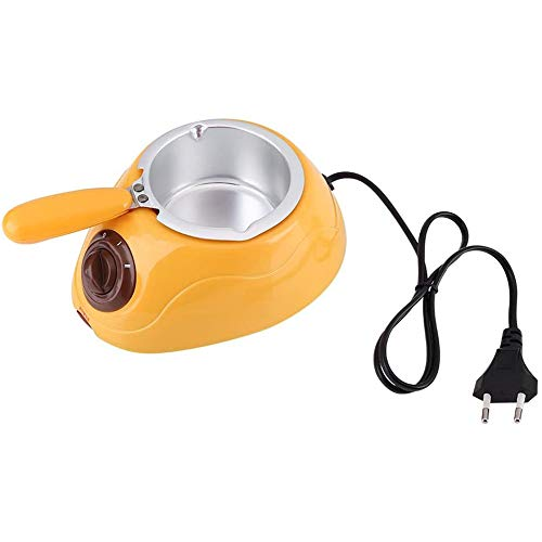 YCX Pot électrique Chocolat Fondant fondoir Outil de Cuisine Machine, Caramel pour Le Fromage de Beurre de Bonbons au Chocolat,Jaune