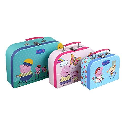 Barbo Toys Maleta Peppa Pig 3 en 1 | Estuche para Juguetes | 3 Tamaños y Diseños Diferentes Guardar Juguetes | Licencia Oficial de Peppa Pig