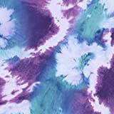 FS464 Lila Blau Batik | Scuba Schneiderstoff | Meterware |