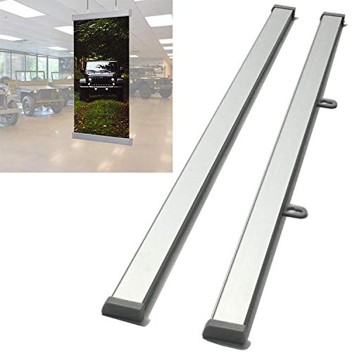 "Heavy-Duty Hanging Aluminum Rails Clip 24"" for Posters Hanger, Banner Hanging,Sign Holder, Canvas and Maps Hanging"