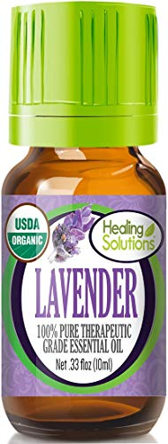 Organic Lavender Essential Oil (100% Pure - USDA Certified Organic) Best Therapeutic Grade Essential Oil - 10ml