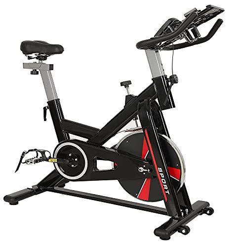 XLAHD Pantalla retroiluminada de Bicicleta estática para Entrenamiento Corporal Total, Respaldo Alto, Bandas de Resistencia Ajustables para Brazos y piernas, Soporte de Peso, Bicicletas de Fitness