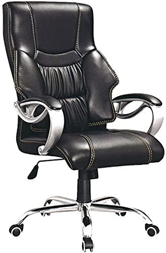 TAIDENG Silla de oficina ejecutiva de piel sintética con respaldo medio, diseño moderno y ergonómico, altura ajustable del asiento, mecanismo de inclinación, giro de 360 grados