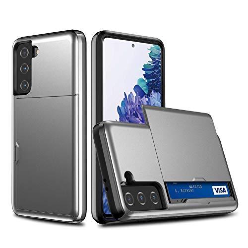 Rugged – Carcasa para Samsung Galaxy S21 5G – Funda ultra fina [tarjetero] Aleación de aluminio armadura resistente a los golpes – Carcasa para Samsung S21 (3, S21 5G)