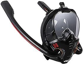 JSJJAUJ Simglasögon vuxna män kvinnor badmask dubbel andning rör silikon helt torr snorkling dykning glasögon maskutrustni...