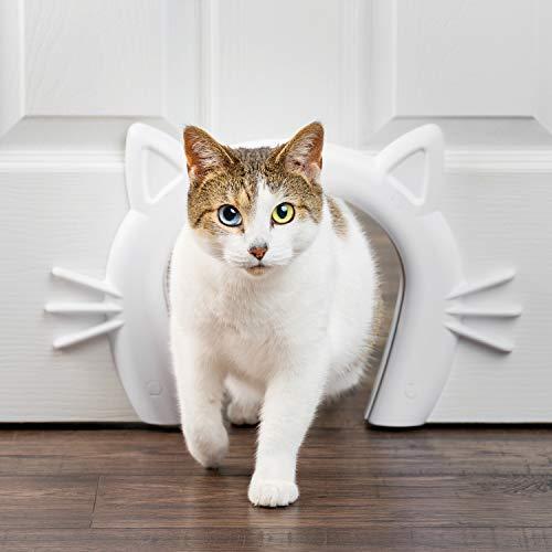 PetSafe Cat Corridor Katzenschlupf, Katzenklappe Innentür, Katzentunnel für Zimmertür, Für Katzen bis 9 kg, Katzentür für Privatsphäre, Inkl. Schneideschablone, Schrauben u. bemalbare Schraubendeckel