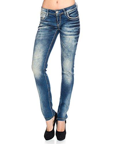 Cipo & Baxx Damen Jeans Hose mit Nähten