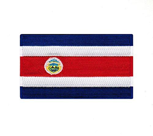 Parche bordado bandera Costa Rica coser planchar